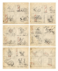 Disney Pluto Barber's Pole 24-Panel Animation Sequence.
