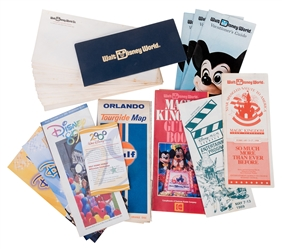 Lot of Walt Disney World Brochures, Advertisements, and Ephemera.