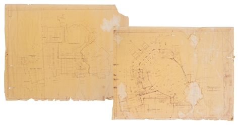Walt Disney World Floor Plan Blueprints – Liberty Square / Adventureland Complex.