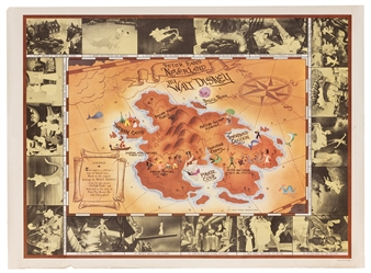 Peter Pan Map of Neverland. 1953.