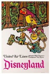 United Air Lines Presents Walt Disneys Enchanted Tiki Room. Disneyland. 1968.