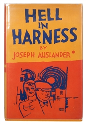 Auslander, Joseph (Ervine Metzl, illus.). Hell in Harness, Signed.