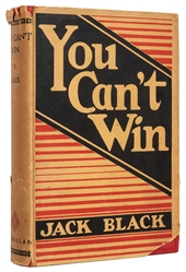 Black, Jack. You Can't Win. First edition.