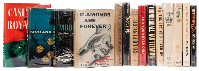 The Complete Collection of Fourteen First American Editions of the James Bond Novels.