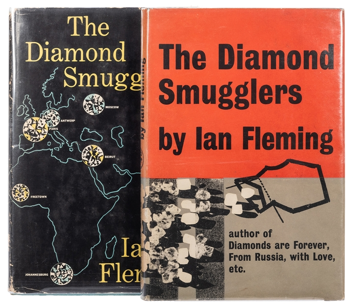 The Diamond Smugglers, both first editions.