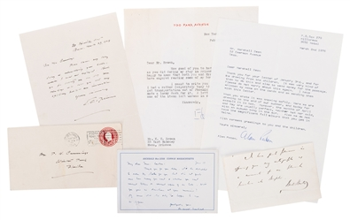 Small Group of Five Author and Poet Letters.