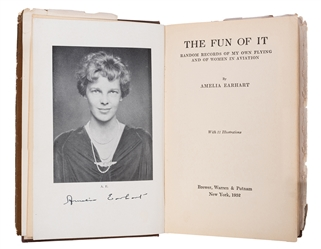 "Amelia Earhart Signed ""Fun of It"" First Edition."