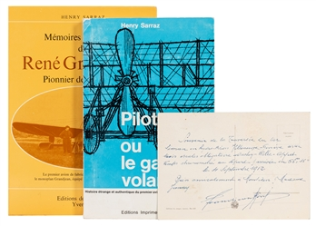 Group of Rene Grandjean – Ernest Failloubaz Aviation Ephemera.