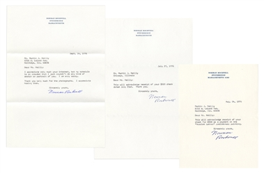 Three Norman Rockwell Typed Letters Signed.