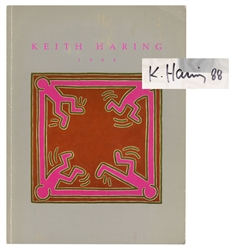 Keith Haring 1988 Exhibition Catalogue, [signed].