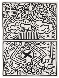 Nuclear Disarmament Poster, inscribed and signed by Haring.
