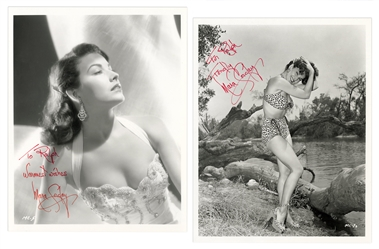 Pair of Mara Corday Signed and Inscribed Photos.