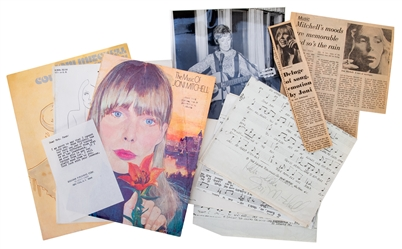 Joni Mitchell Inscribed and Signed Xerograph Lead Sheet.