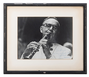 Benny Goodman Inscribed and Signed Photograph.