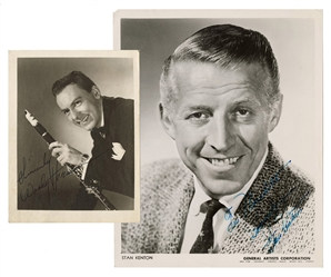 Stan Kenton and Woody Herman Signed Photos.