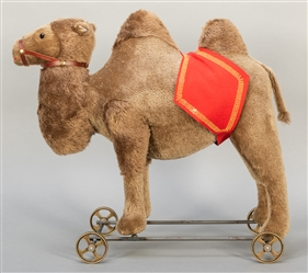 Steiff Camel on Wheels 1908 Replica. 2005. One of 1,000 exa...