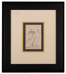 Gould, Chester. Original Pencil Sketch of Dick Tracy, [insc...