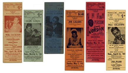 Collection of Jazz and African American Music Ephemera. Cir...