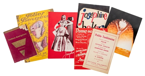 Josephine Baker Group of Programs and Sheet Music. Includin...