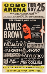 "James Brown ""Sex Power and Love"" Concert Poster. Cobo Arena..."