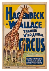 Hagenbeck-Wallace Trained Animal Circus. Mammoth Menagerie....