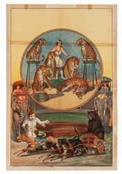Erie Litho Circus Poster. Trained Animals. Erie Litho, ca. ...