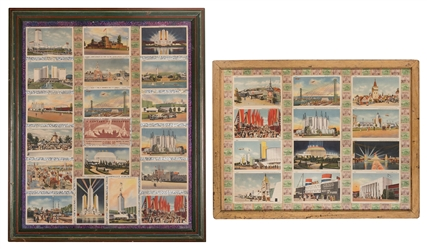 [Chicago] Framed Chicago World's Fair Postcards, [31 total]...