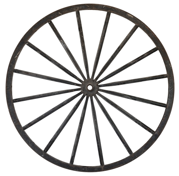 Houdini's Wooden Wagon Wheel. Being a large wooden wheel wi...