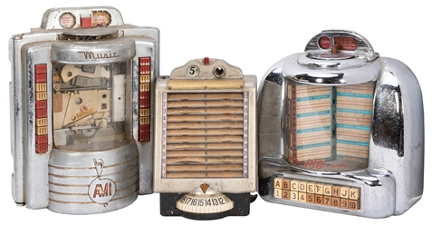 Three Wall Box Juke Box Record Selectors. Circa 1950s. Incl...