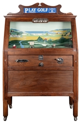 Chester-Pollard 5 Cent Play Golf Arcade Game. 1928. Player ...