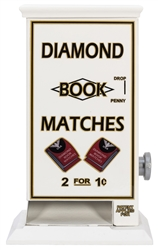 "Diamond 2 for 1-Cent Match Machine. Height 13"". Restored."