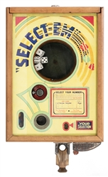 "ESCO 25 Cent ""Select-Em"" Dice Trade Stimulator. Chicago: Ex..."