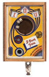 """I Owe You"" 25 Cent Dice Trade Stimulator. 1934. A coin is ..."