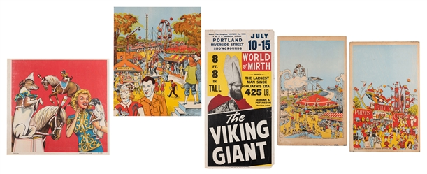 Group of 5 Carnival Window Cards. Including Johann Petursso...