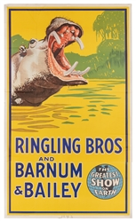 Ringling Brothers and Barnum & Bailey. Hippopotamus. 1942/4...