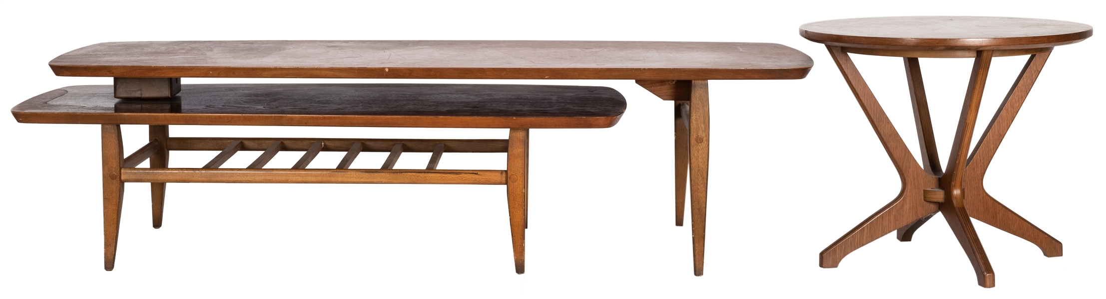 "Lane Mid-Century ""Switchblade"" Coffee Table and Drexler Sid..."