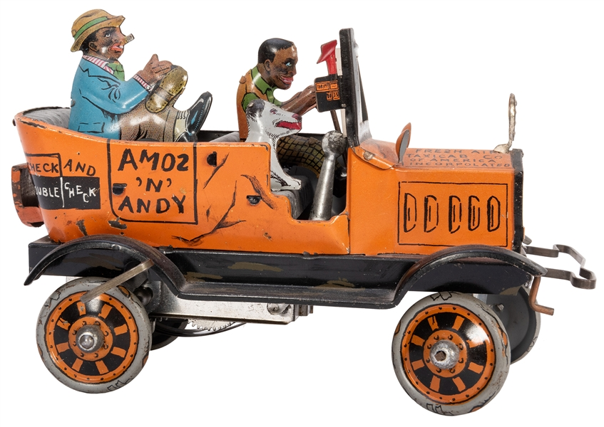 Marx Amos 'N' Andy Cab Crazy Car. Lithographed tin wind-up ...