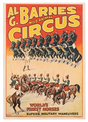 Al. G. Barnes Circus. World's Finest Horses. Erie Litho, ca...