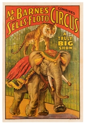 Al. G. Barnes and Sells-Floto Combined Circus. Erie Litho, ...