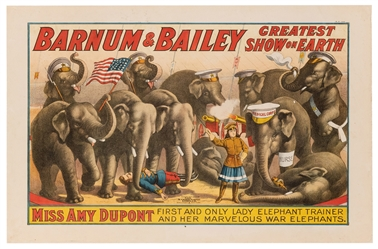 The Barnum & Bailey Greatest Show on Earth. Amy Dupont and ...