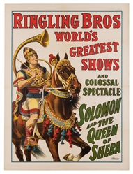 Ringling Bros. World's Greatest Shows. Solomon and the Quee...