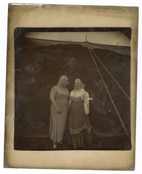 Arbus, Diane. Albino Sword Swallower and Her Sister. [Maryl...