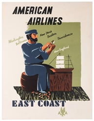 Kauffer, Edward McKnight (1890-1954). American Airlines / E...