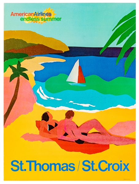 American Airlines / St. Thomas / St. Croix. USA, 1970s. Fro...