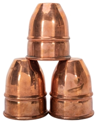 Large Copper Cups & Balls Set. Oversize set of three profes...