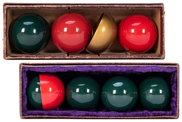 Two Sets of Owen Multiplying Billiard Balls. Including a 1 ...