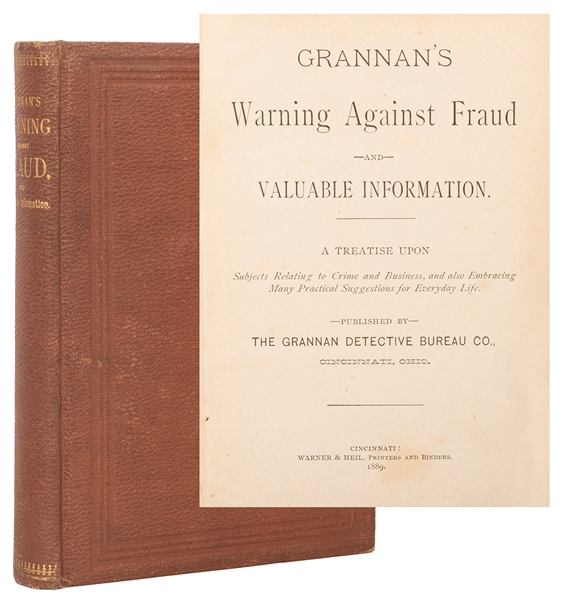 Grannan, Joseph. Grannan's Warning Against Fraud. Cincinnat...