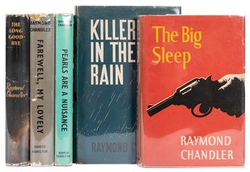 CHANDLER, Raymond (1888–1959). Five Early British Reprints....