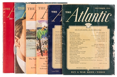 CHANDLER, Raymond (1888–1959). Six Issues of The Atlantic M...