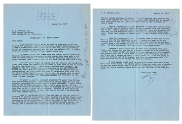 "CHANDLER, Raymond (1888–1959). Typed Letter Signed (""Ray"") ..."